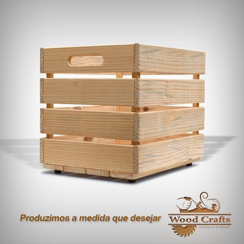 Caixote De Madeira Wood Crafts 50x40x45cm Em 2020 Caixote De