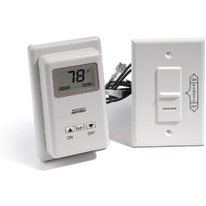 Skytech Ts R 2 Wireless Wall Mounted Thermostat Fireplace Remote