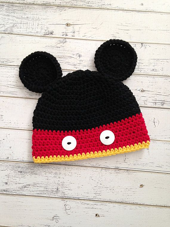 Crochet Baby Boy Mickey Mouse Inspired Hat by