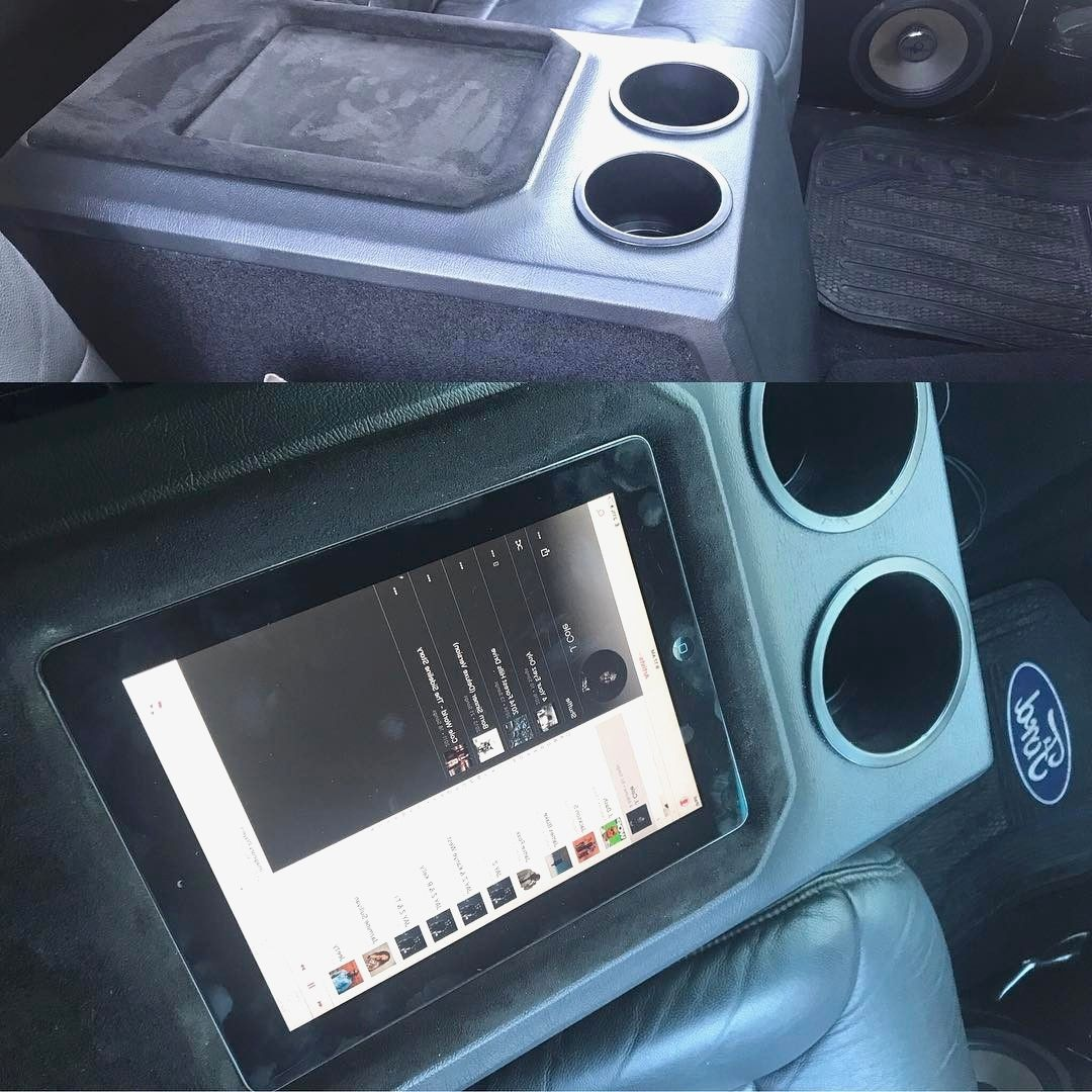 Small Change To The Top Of The Console Re Worked The Top To Hold An Ipad For This Client Firstcoastautocreations