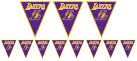 Los Angeles Lakers Pennant Banner Party City Basketball Theme Party Pennant Banners Sports Themed Party
