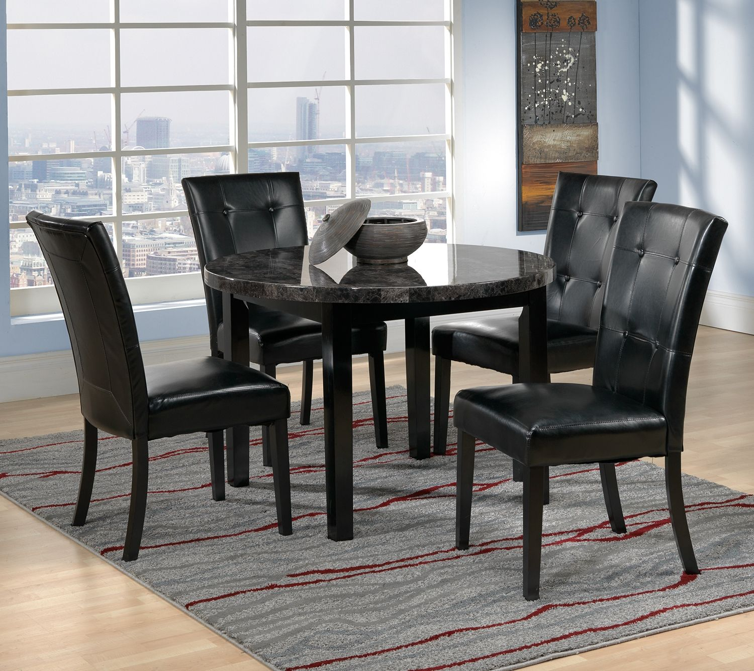Martina Iii Casual Dining Collection Leon S Modern Dining Room Casual Dining Room Furniture Top Furniture