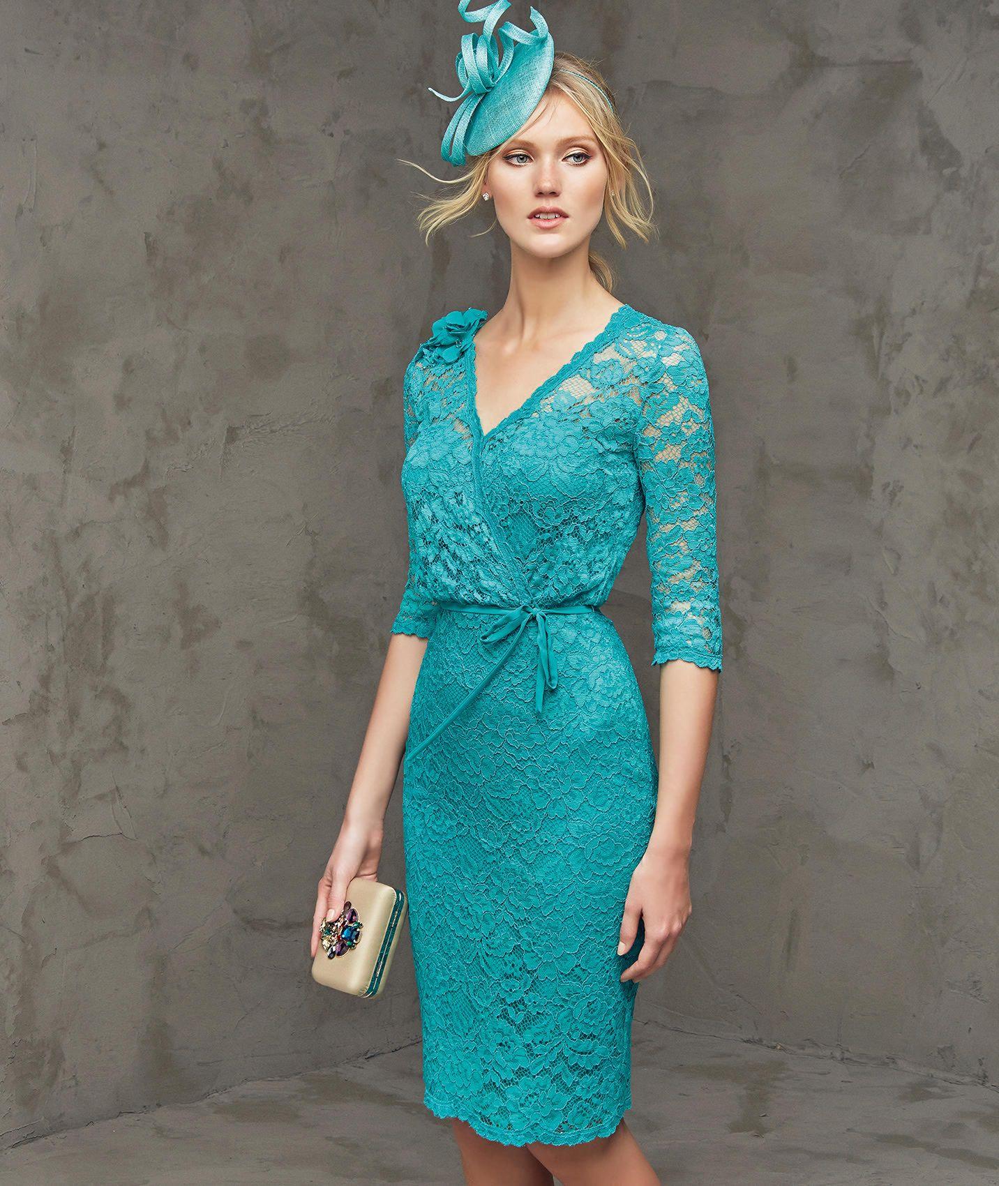 Fragancia, abito da cerimonia corto, scollatura a punta | Moda ...