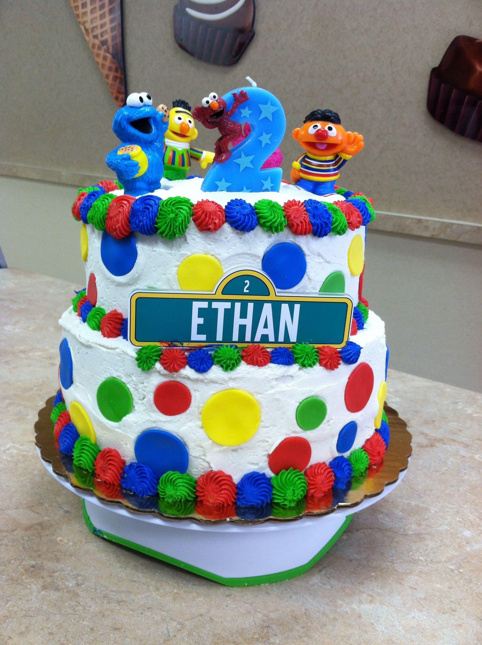 Remarkable Livay Sweet Shop Sesame Street Buttercream Cake Cakes Funny Birthday Cards Online Hetedamsfinfo