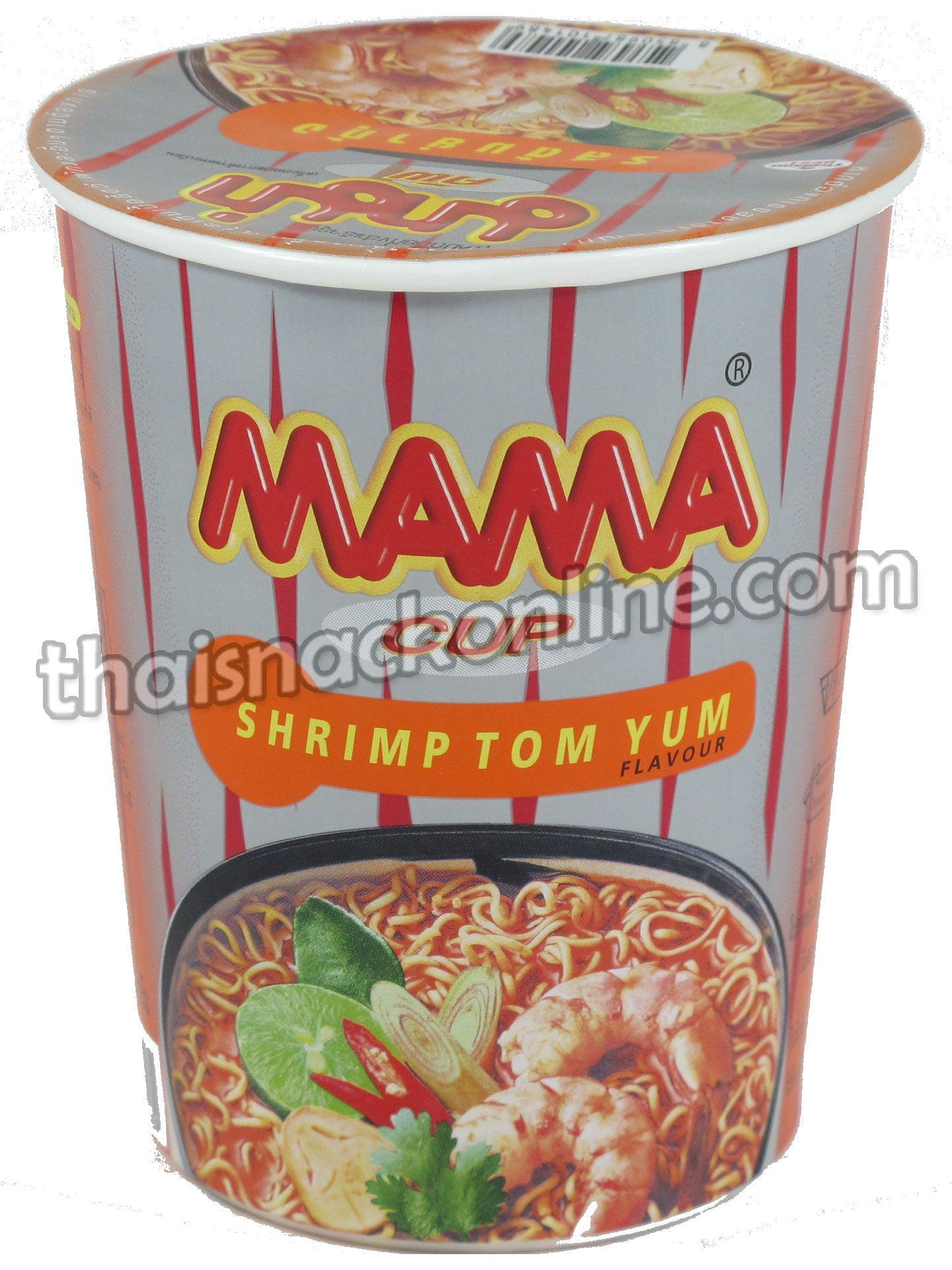 Mama cup shrimp tom yum 60g instant recipes thai
