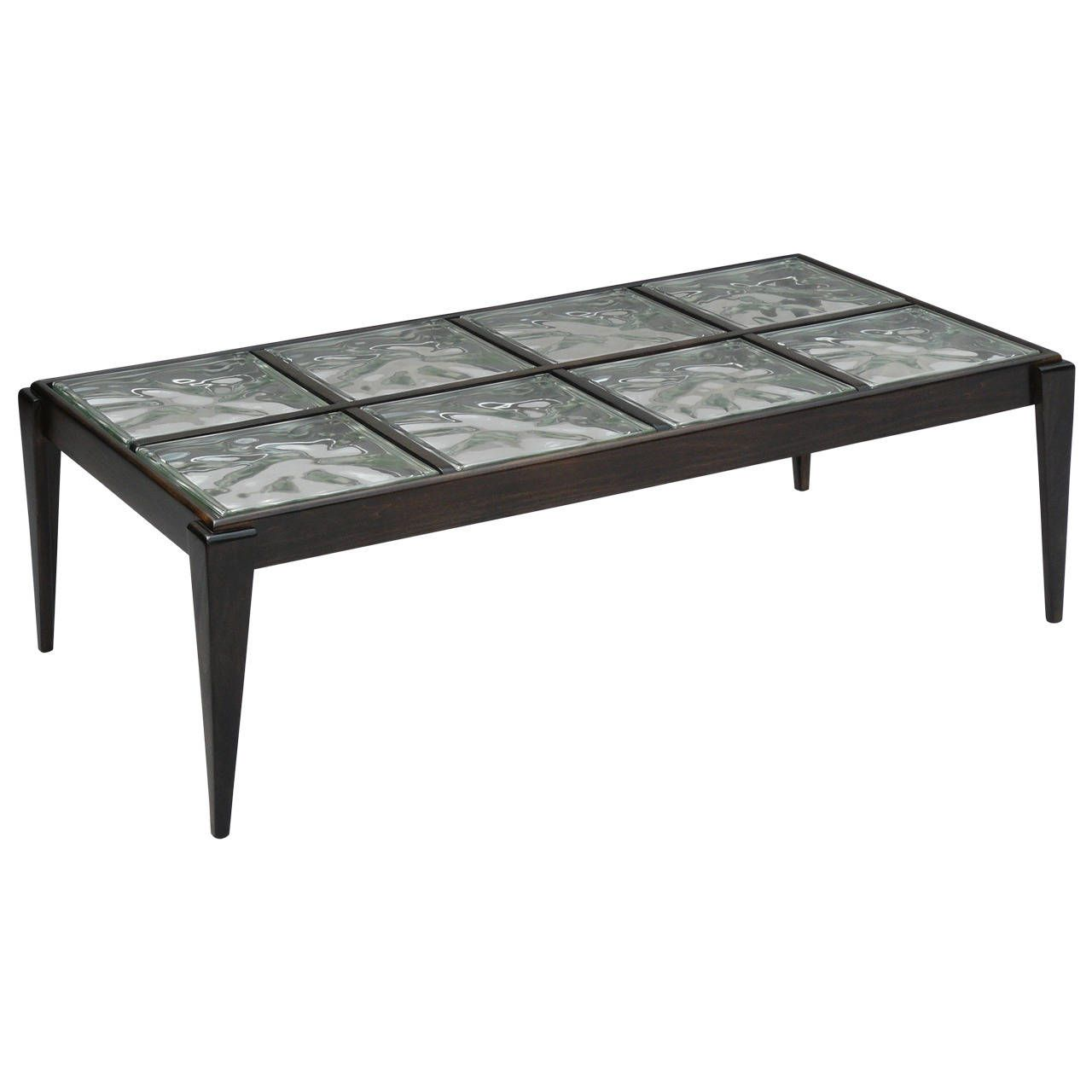 Attirant 40s Glass Block Coffee Table 1