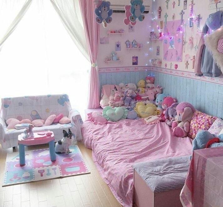 Pin By Son Gul Gul On Lg Kawaii Bedroom Pastel Room Cute Bedroom Ideas