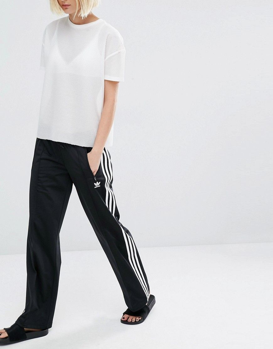 70993c6c8c95 Image 4 of adidas Originals Three Stripe Wide Leg Trousers