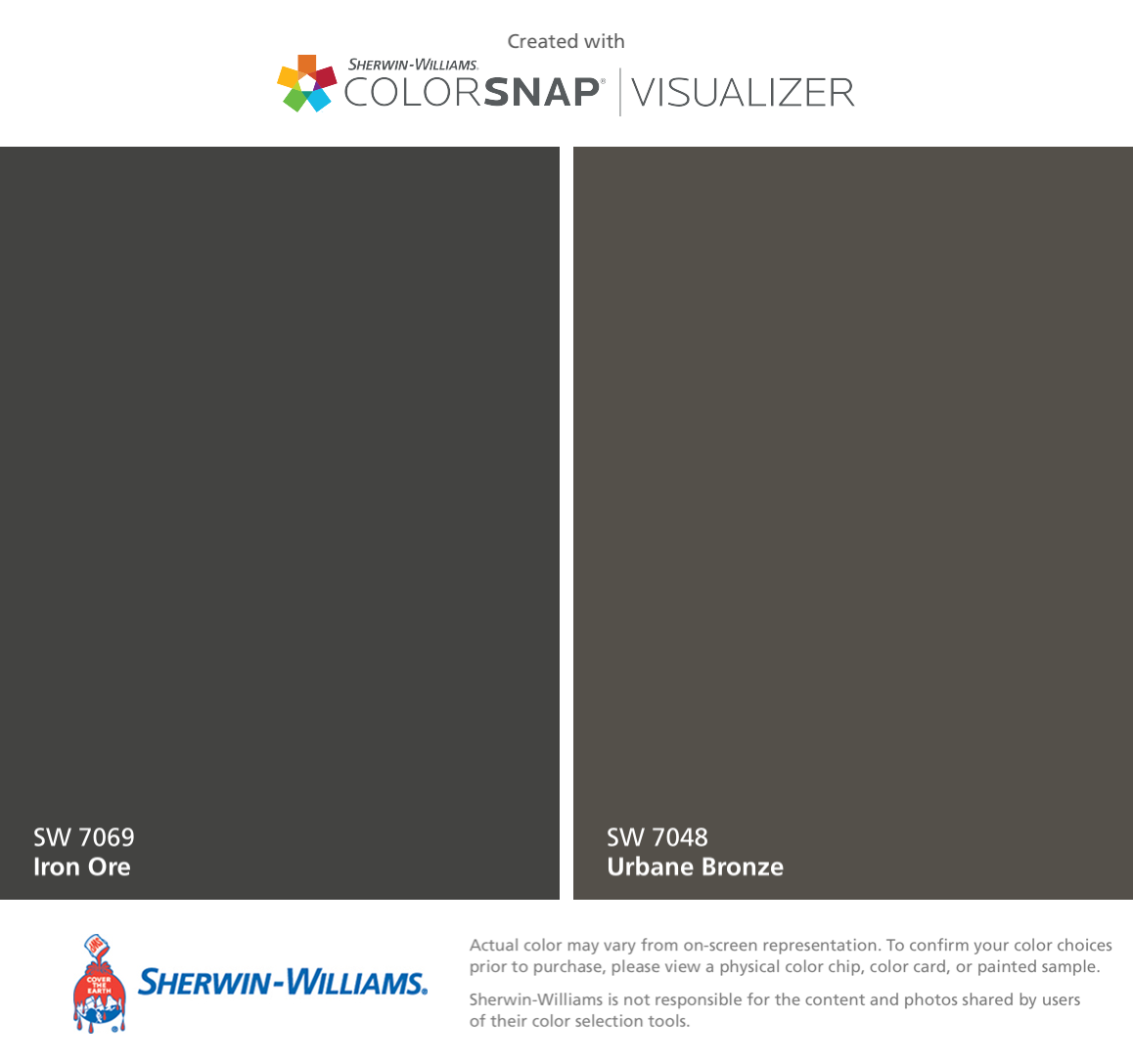 Found These Colors Colorsnap Visualizer For Iphone Sherwin Williams Iron Ore