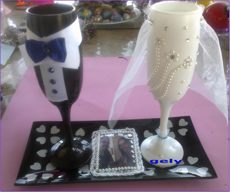 Copas para la boda de juanra y monica mis dide os de for Copas decoradas a mano