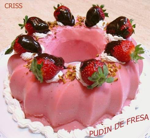 Pudín de fresas