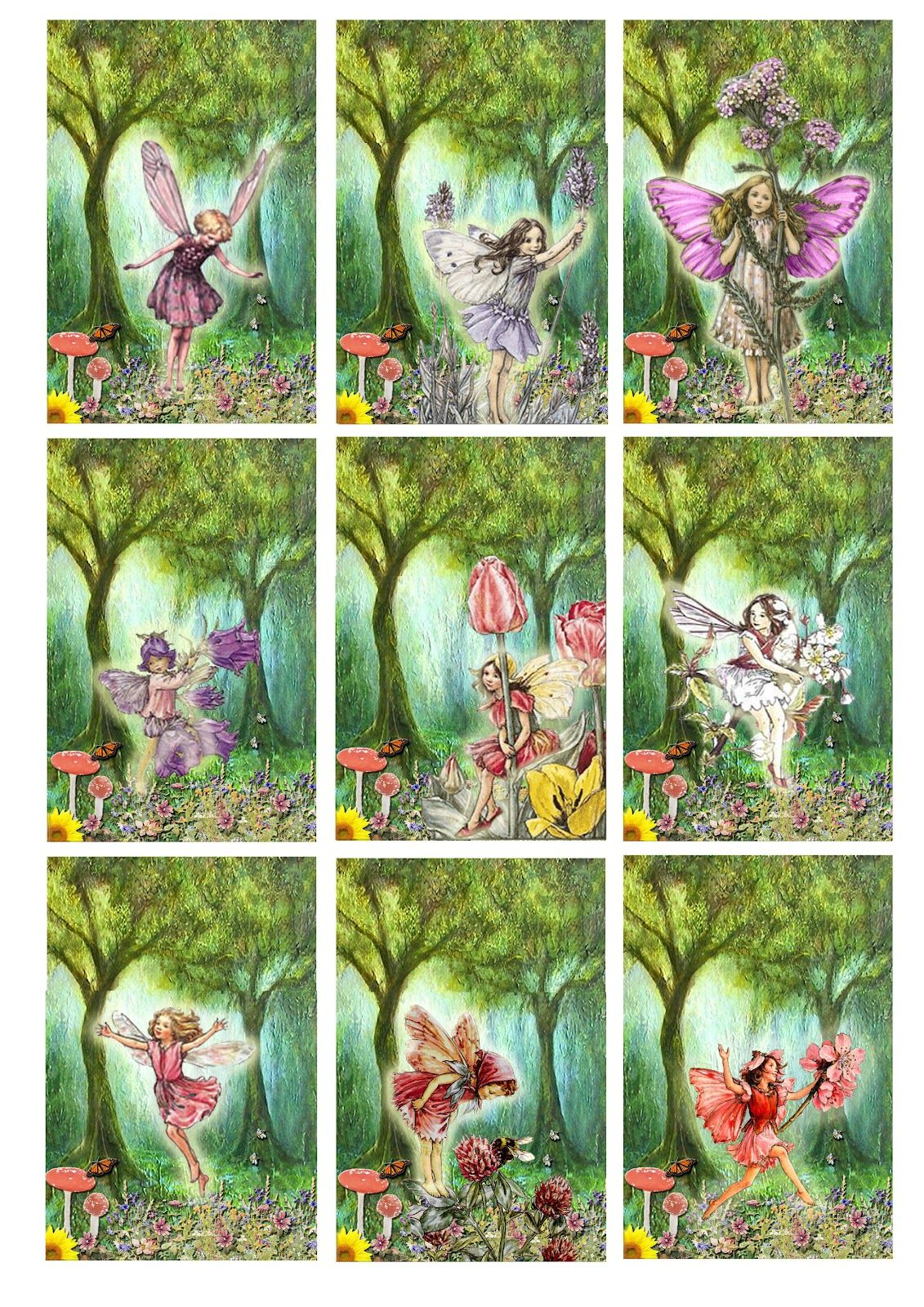 Flower+Fairies+Printable.jpg (1131×1600)