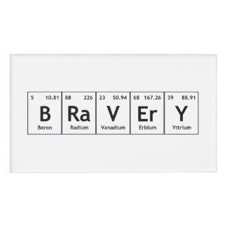 Chemical periodic table of elements teacher name tag periodic table bravery elements symbols periodic table words atom name tag urtaz Images