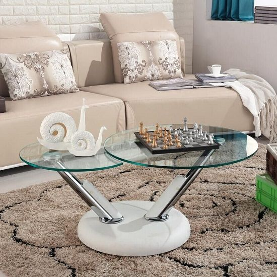 Tokyo Clear Glass Top Coffee Table In