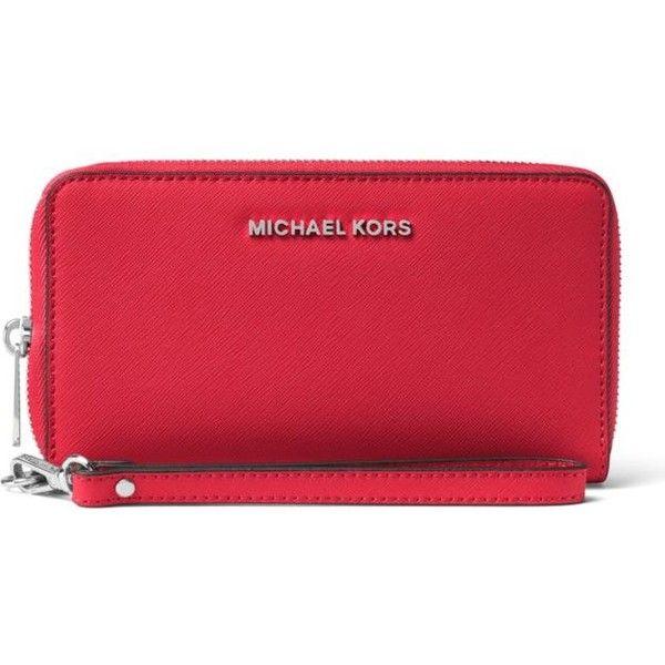 da238e01b8eb Michael Michael Kors Bright Red Jet Set Travel Large Saffiano Leather...  ($108