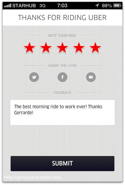 Uber Everyone S Personal Driver Survey Ui Ux Mobile Ui Mobile