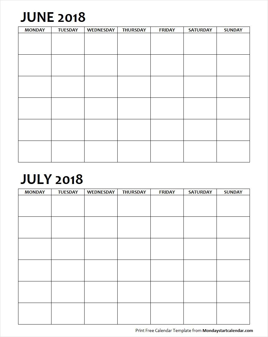 two month printable calendar