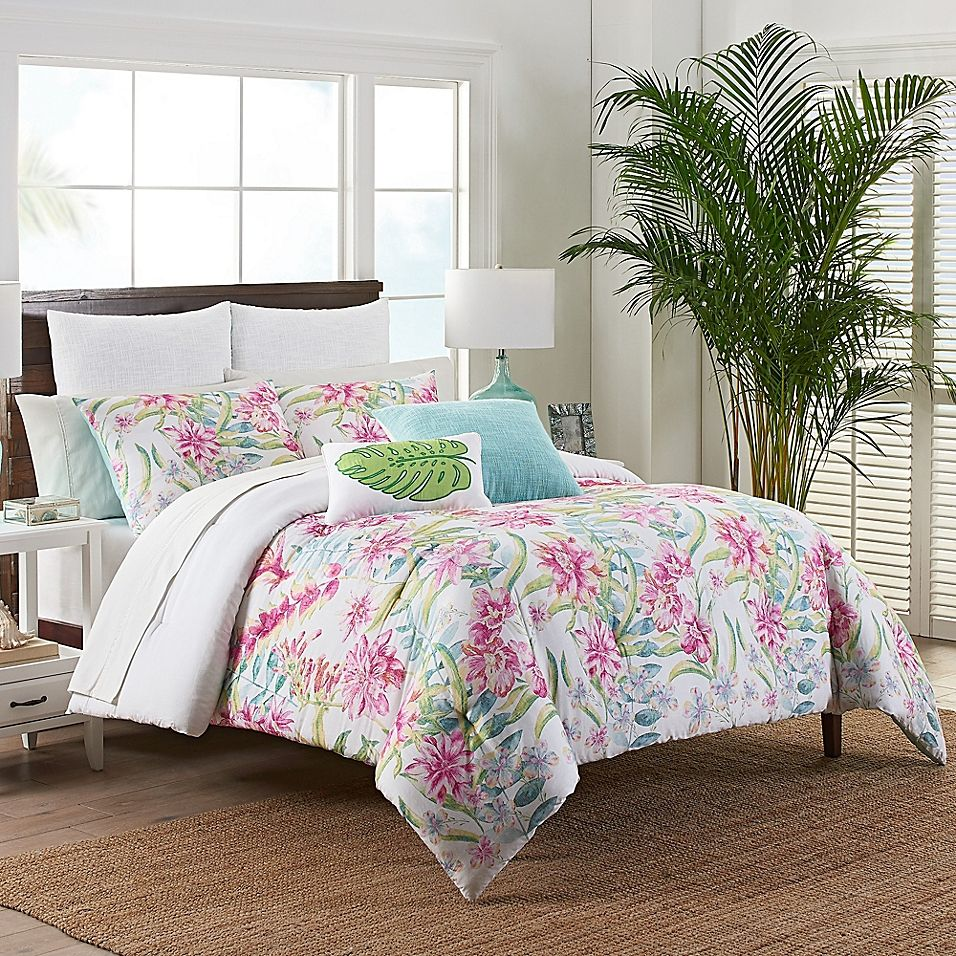 Coastal Life Luxe Honolulu Full Queen Comforter Set Multi Queen