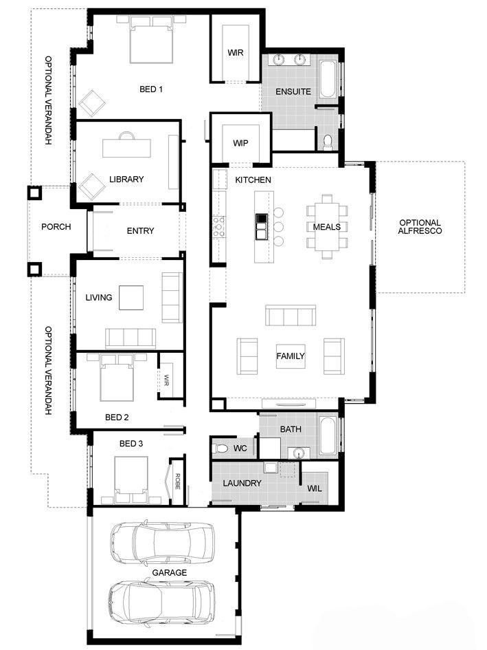 Floorplan Architectural Floor Plans House Floor Plans Craftsman Floor Plans