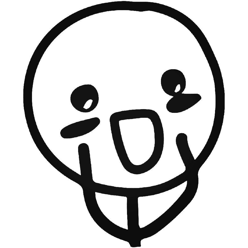 Blushing internet meme sticker
