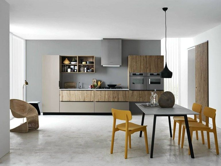 linear melamine-faced chipboard fitted kitchen ariel 05 by cesar, Kuchen
