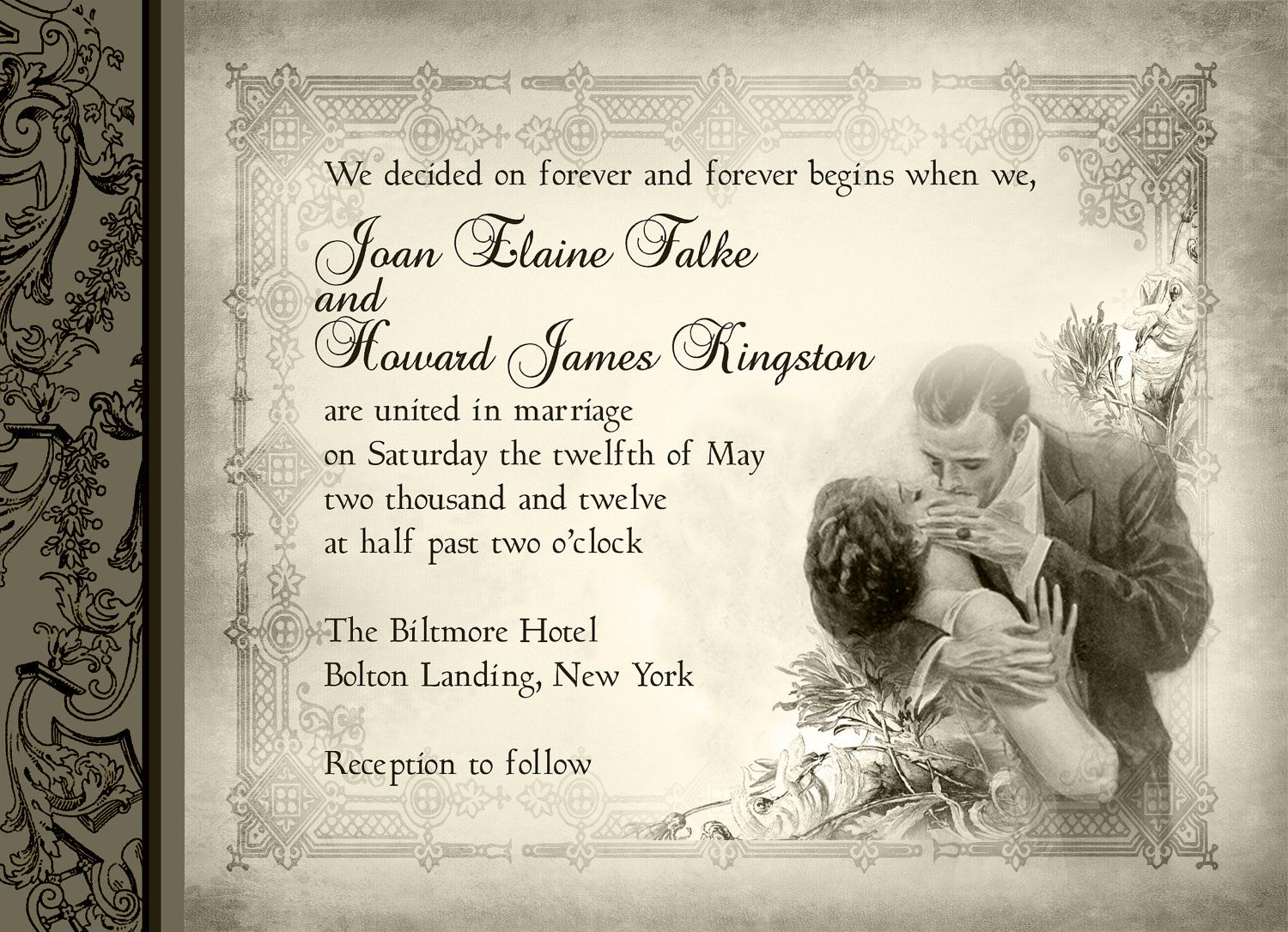 Image Detail For Vintage Romance Victorian Kissing Couple True Love