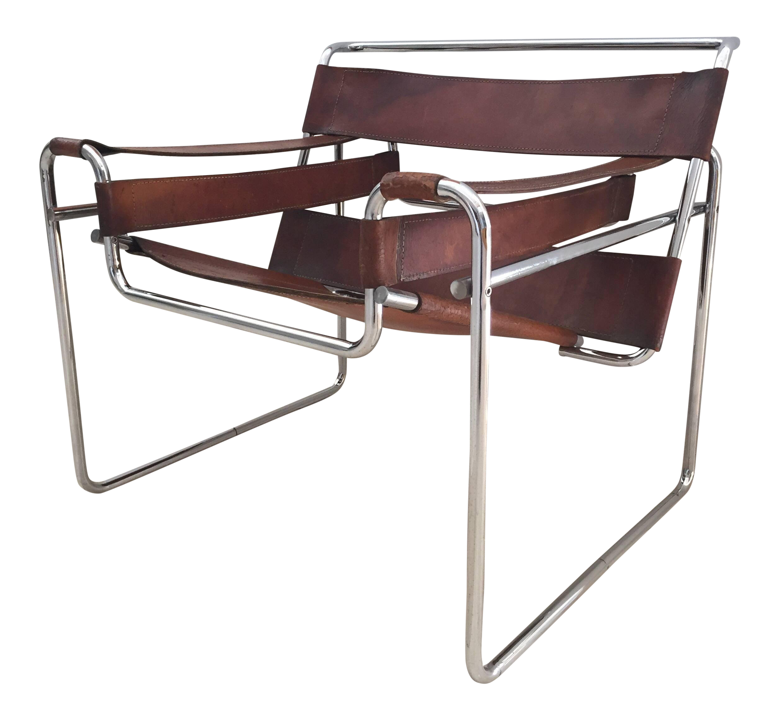 Vintage Early Original Marcel Breuer Wassily Chair For Knoll In
