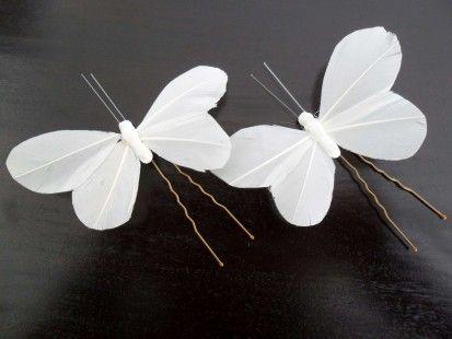 Accessoires pour cheveux en mousseline /Épingle /à cheveux en forme de papillon Pour coiffure de mari/ée En mousseline
