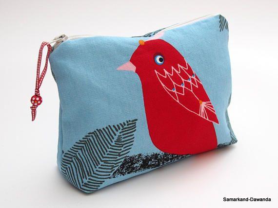 Kosmetiktasche Tasche Täschchen Kosmetiktäschchen Vogel