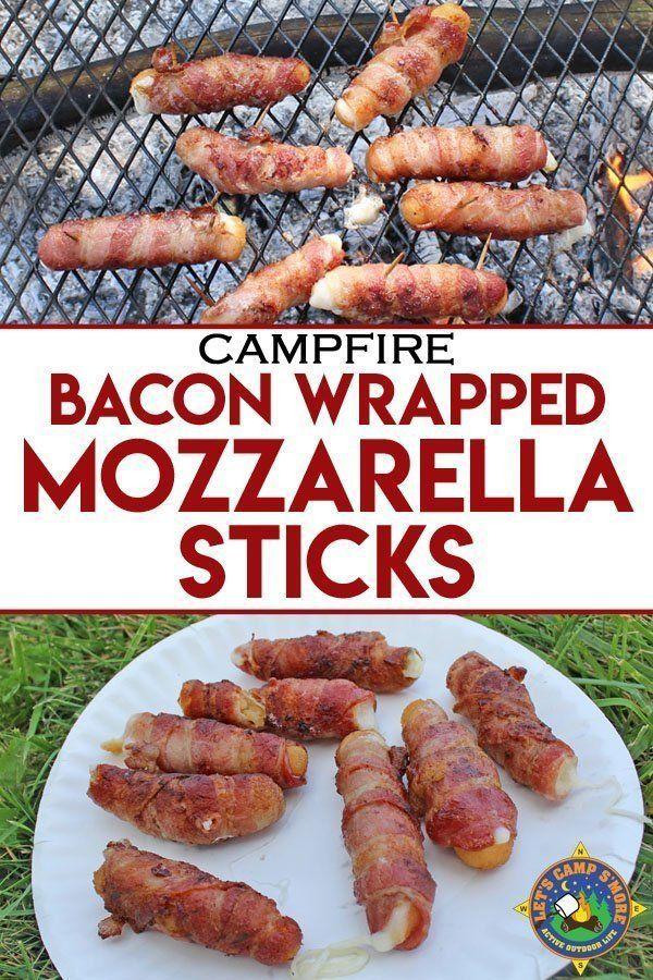Photo of Grilled Bacon Wrapped Mozzarella Sticks Camping Recipe-ad_1]Gri …
