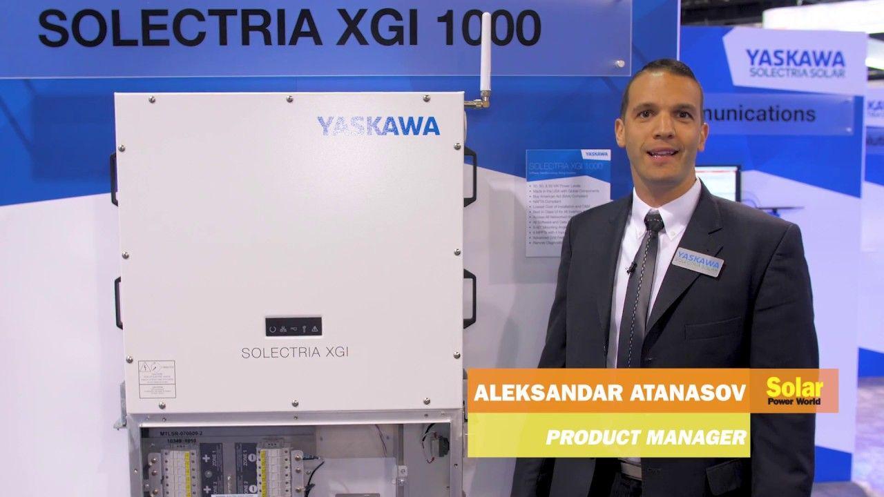 Yaskawa Solectria Solar shows off its XGI 1000 inverter at