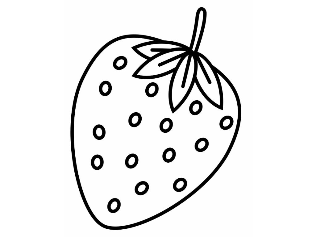 Strawberry Coloring Sheet Coloring Kids Coloring Pages