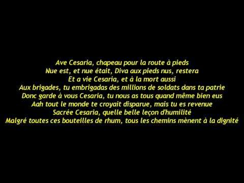 Stromae Ave Cesaria Paroles Lyrics Hd Parole Lyrics Cards