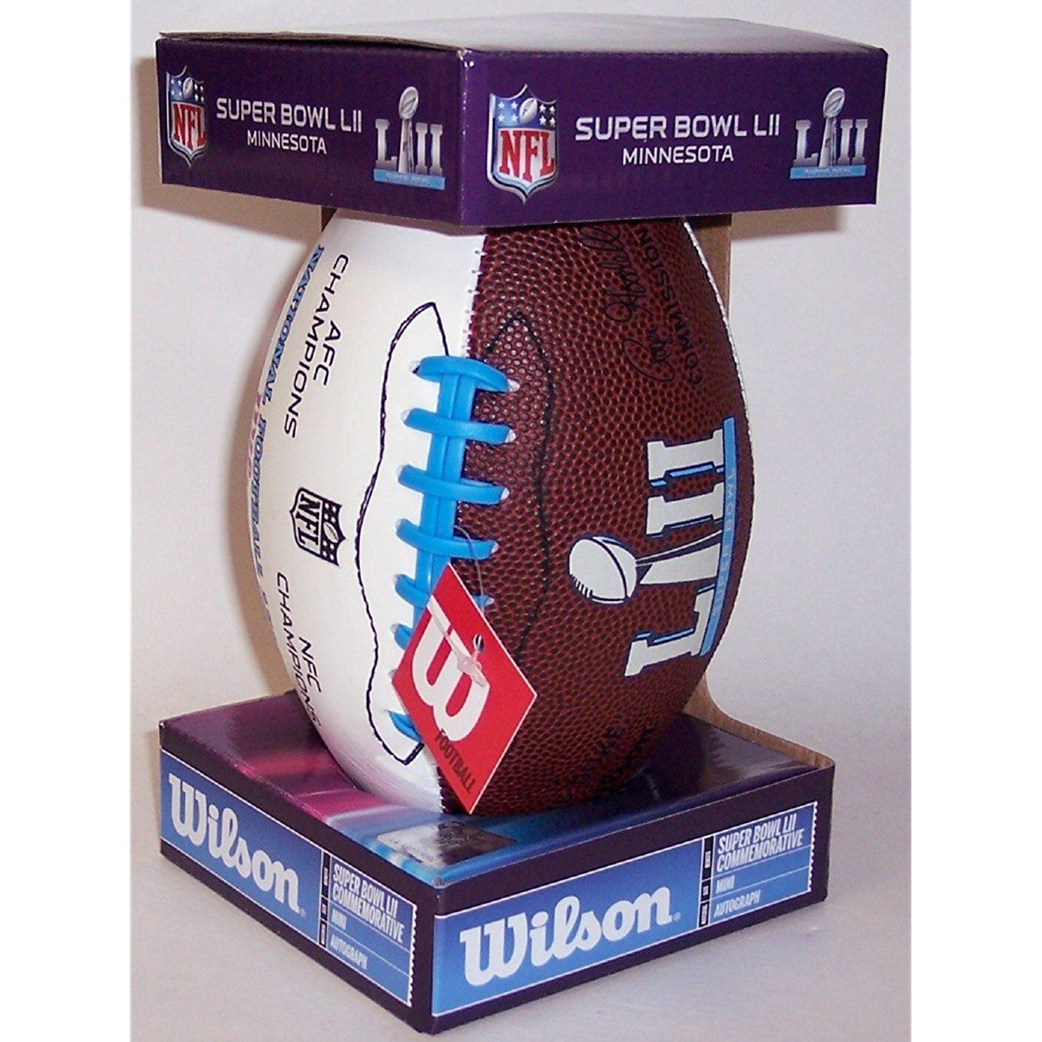 Super Bowl 52 Lii Wilson Nfl Autograph Model Mini Size Football Minnesota 2018 New In Box You Can Find More Super Bowl 52 Sports Collectibles Autograph
