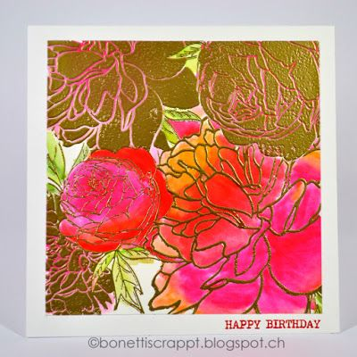 Peony Garden by The Ton Stamps