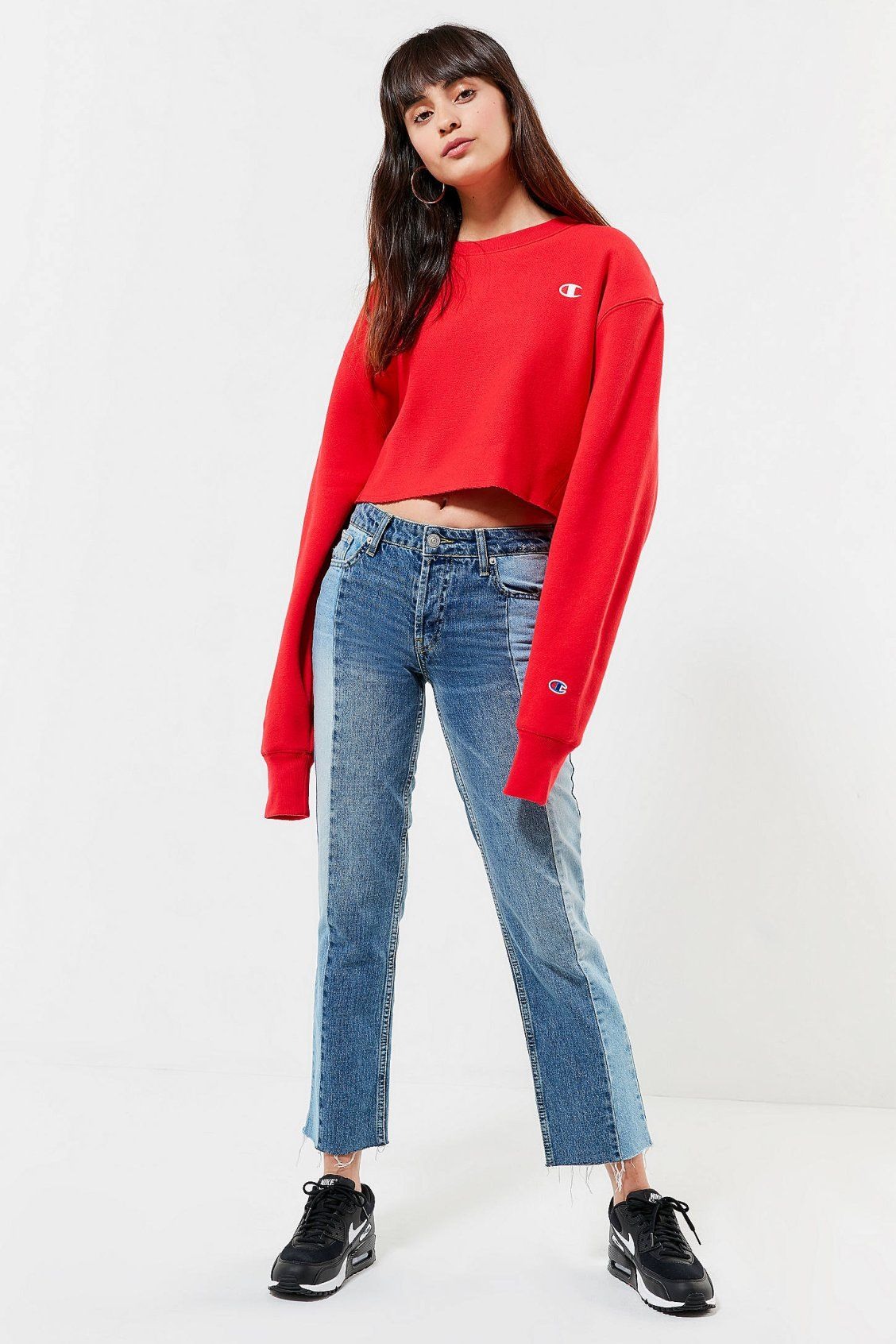 fe84e030f0e Champion   UO Crew-Neck Cropped Sweatshirt