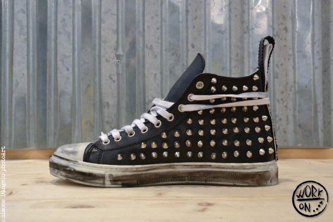 Work_On leather shoes - #leather #shoes #custom #studs #sneakers #workon #fashion #handmade #madeinitaly - www.workoncustom.com -mod. Neptune