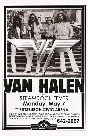 Van Halen Music Van Halen Concert Posters Vintage
