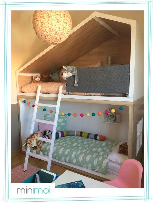 Litera Casita Para Una Habitación Infantil De Ensueño Pinterest