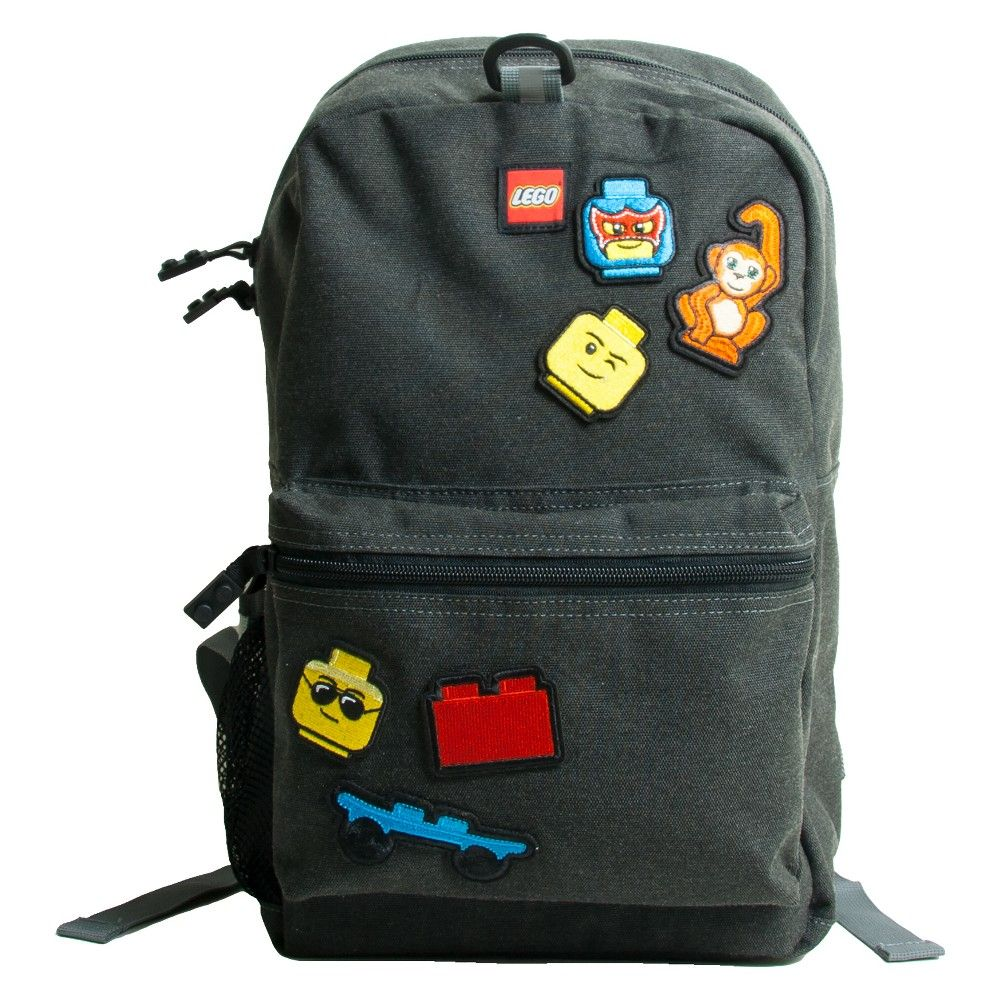 8bc5774abf Lego 16 Kids  Backpack with Patch Pack   Pouch - Grey