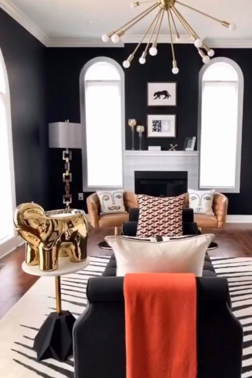 Gold Grand Elephant Candle In 2020 Living Room Decor Modern Small Living Room Decor Black Living Room #small #black #living #room
