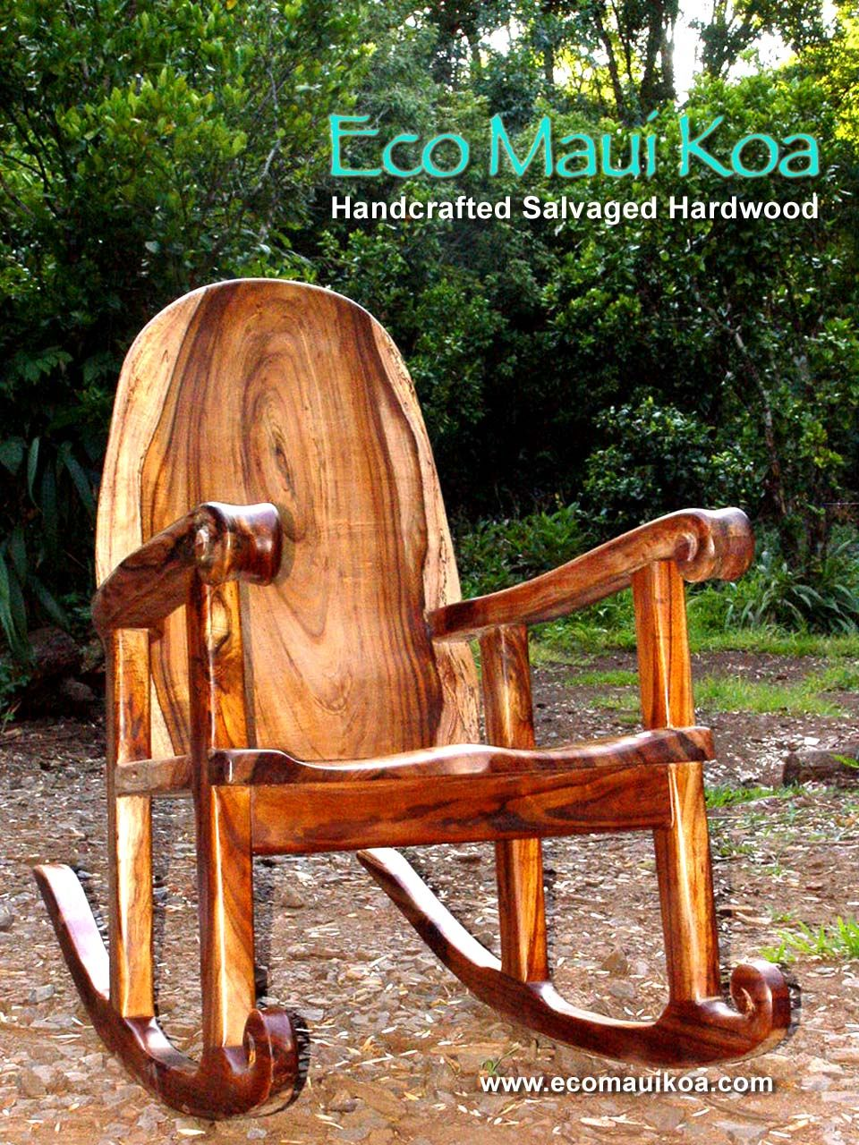 Excellent Salvaged Koa Rocking Chair By Eco Maui Koa Eco Maui Koa Machost Co Dining Chair Design Ideas Machostcouk