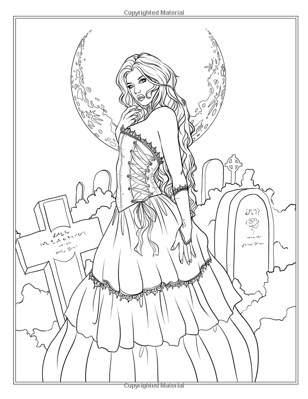 Amazon.com: Night Magic - Gothic and Halloween Coloring Book ...