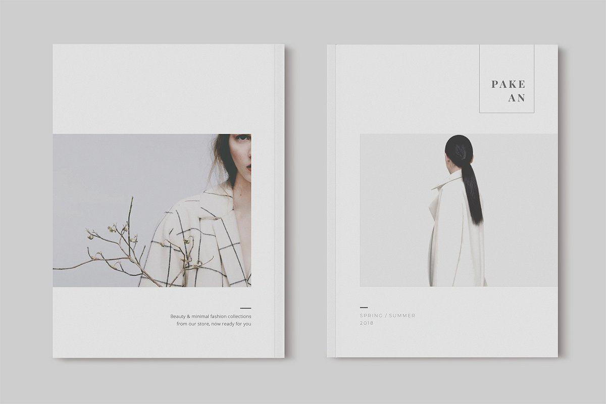 Pakean Minimal Magazine Fashion By One Design On Creativemarket Fashion Magazine Layout Fashion Magazine Design Book Design Layout