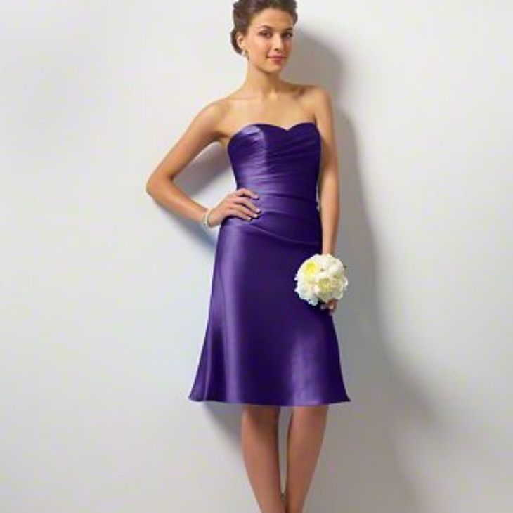 Alfred Angelo Lace-Up Back Bridesmaid Gown