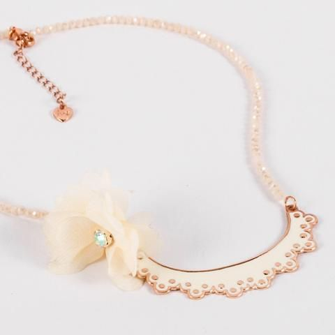 The Rhapsody Necklace from our new #siennalikestoparty #bespoke #kidsjewellery collection.  A gorgeous statement #lace necklace charm on #sparkling #crystals