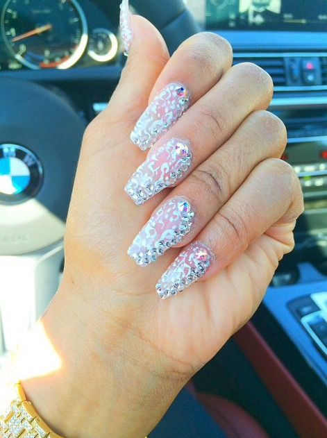 Glitter Silver Nails Dope