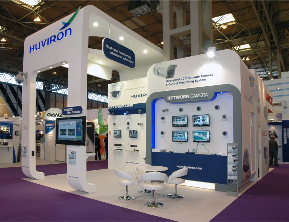 Exhibition Stand Circle : Huviron island at ifsec nec exhibition