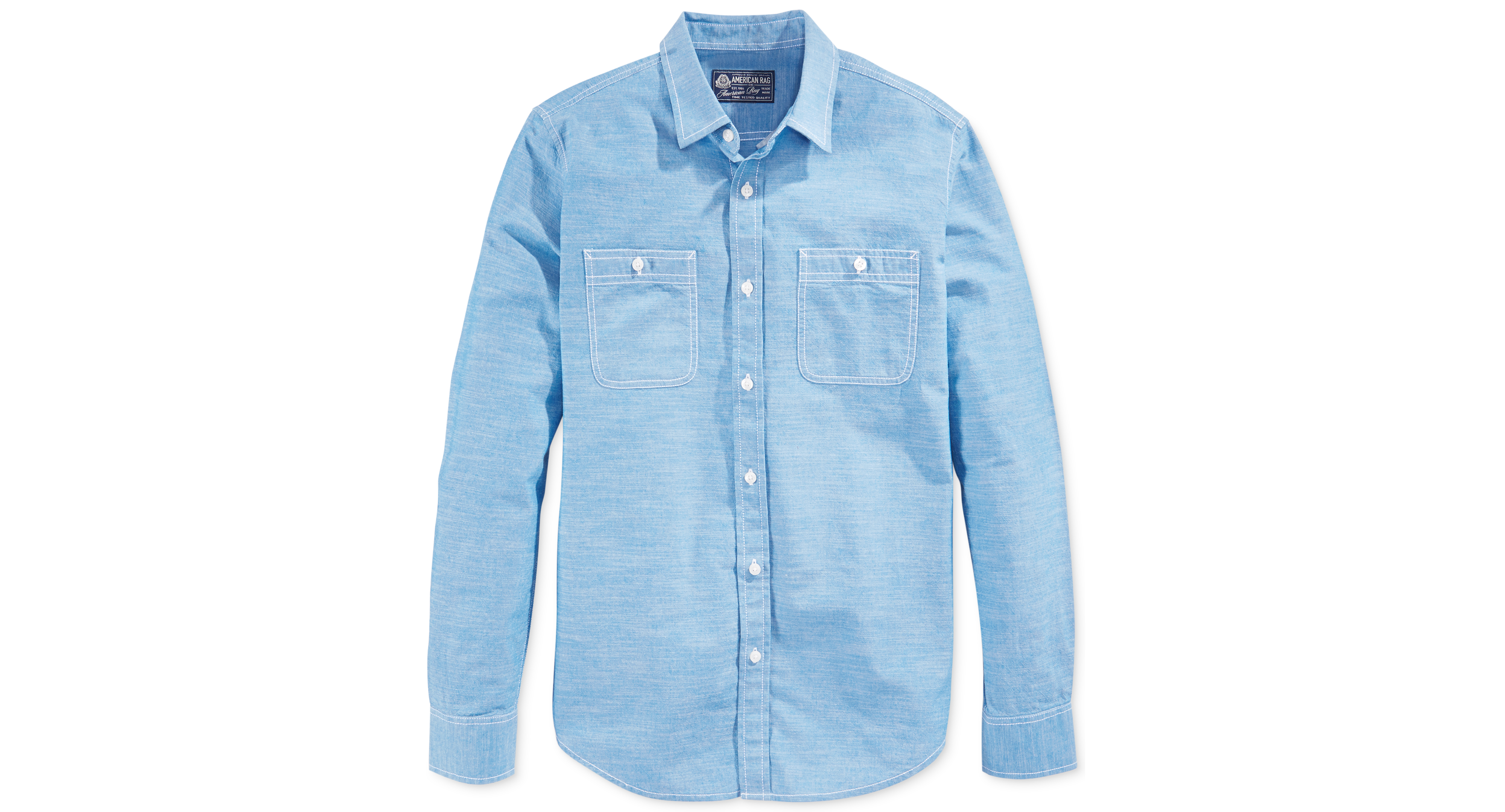 American Rag Solid Utility Chambray Shirt