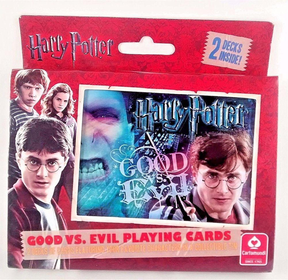 Harry potter good vs evil 2 deck playing cards in